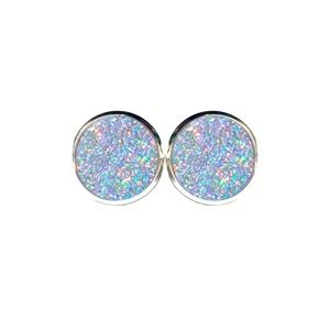 Iridescent Glitter Earrings